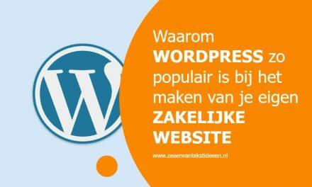 Waarom WordPress zo populair is bij het maken van je eigen zakelijke website