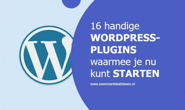 16 handige WordPress-plugins waarmee je nu kunt starten