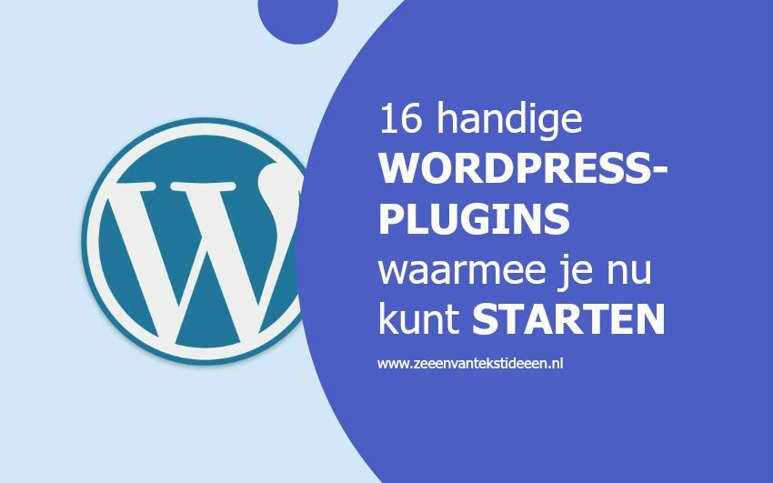 16 handige WordPress-plug-ins waarmee je nu kunt starten