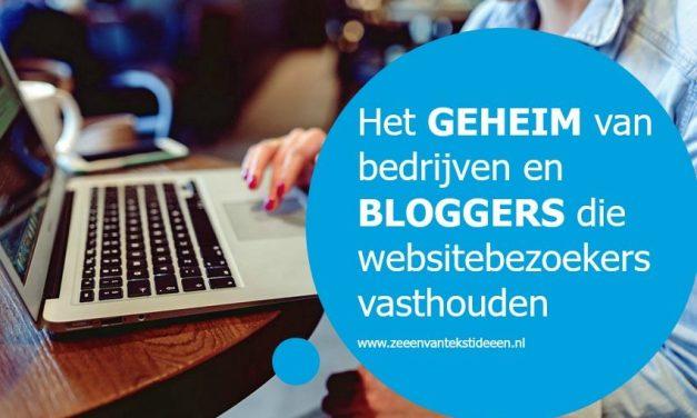 Het geheim van bedrijven en bloggers die websitebezoekers vasthouden