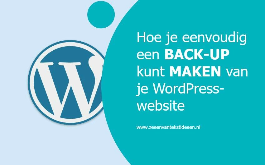 Hoe je eenvoudig een back-up kunt maken van je WordPress-website