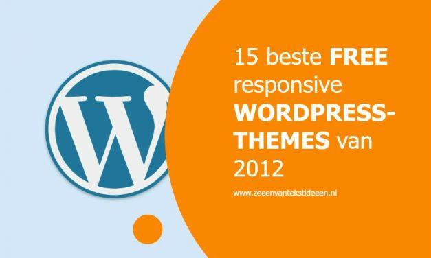 15 beste free responsive WordPress-themes van 2012