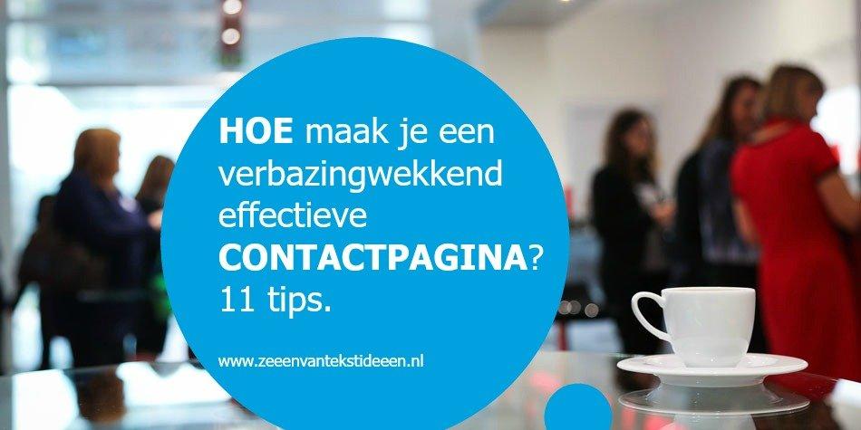 Contactpagina maken. 11 tips voor een verbazingwekkend effectieve contactpagina.