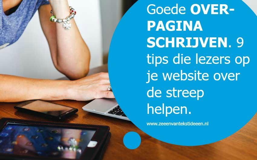 Goede over-pagina schrijven voor je website - Zeeën van tekstideeën